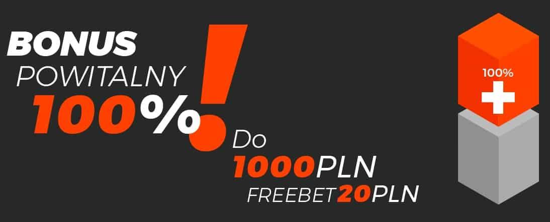 Totolotek. Bonus  powitalny 1000 PLN i 20 PLN