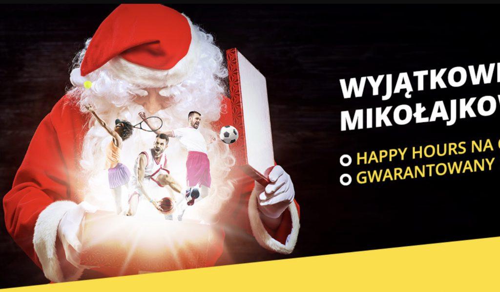 Mikołajki 2019 z bonusami od Fortuny. Happy Hours i pewniak za 10 PLN!