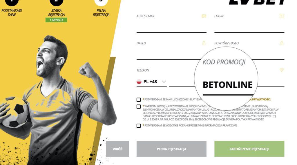 LvBET bonus za kod promocyjny