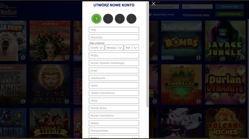 zakładanie darmowego konta w Total Casino